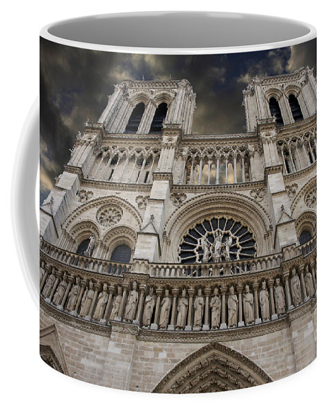 Architecture Coffee Mug featuring the photograph Cathedral Notre Dame Of Paris. France  by Bernard Jaubert