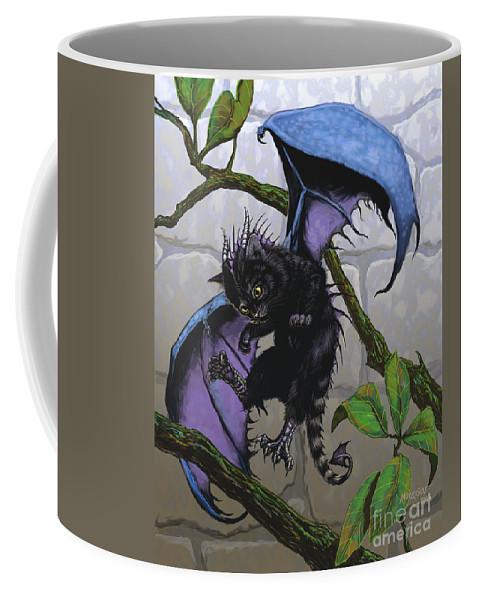 Fantasy Coffee Mug featuring the digital art Catragon by Stanley Morrison