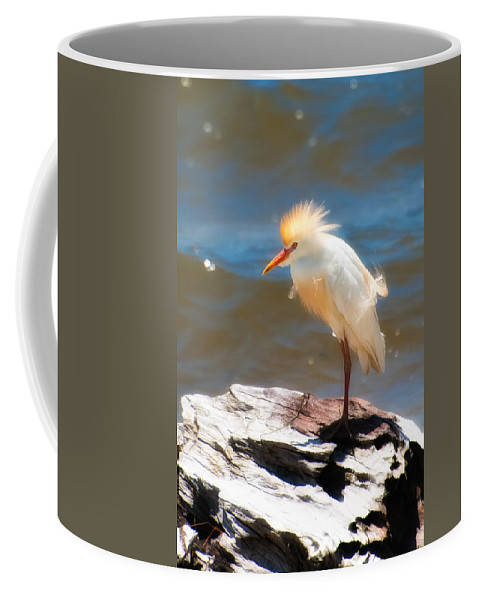 Animal Coffee Mug featuring the photograph Cattle Egret In Breeding Plumage by Rich Leighton