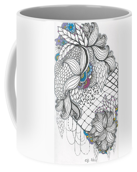 Relentless Coffee Mug featuring the drawing Caught by Darla Richardson