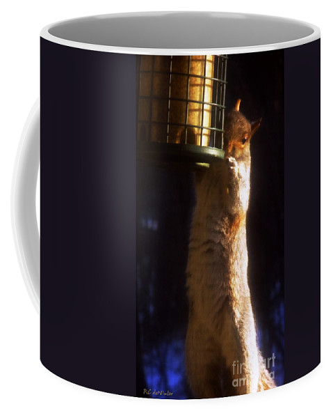 Squirrel Coffee Mug featuring the photograph Caught Red-handed by RC DeWinter