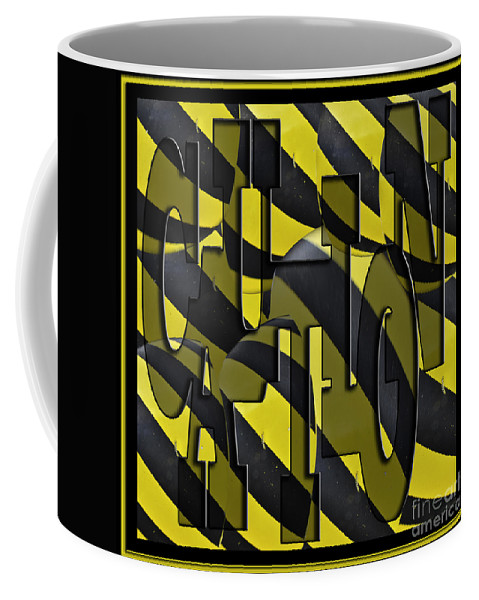 Art Coffee Mug featuring the photograph Caution by Clayton Bruster