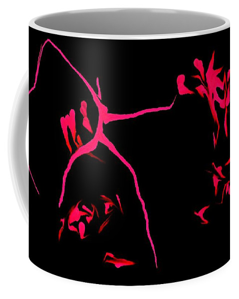 Abstract Coffee Mug featuring the digital art Cave Drawings by David Lane
