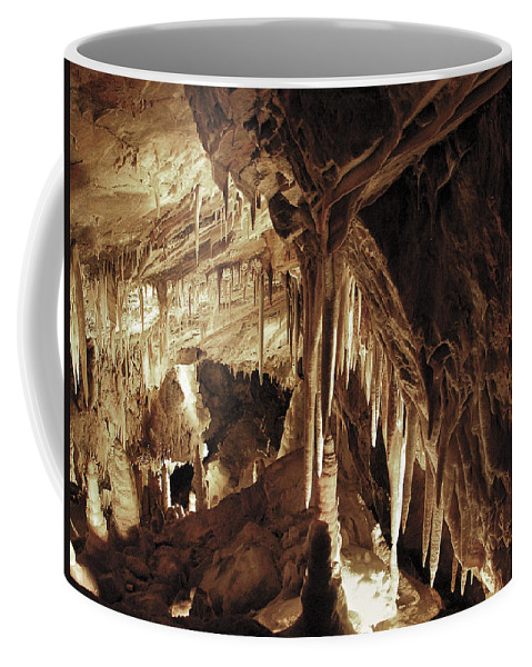 Cave Coffee Mug featuring the photograph Cave Interior by Marilyn Hunt