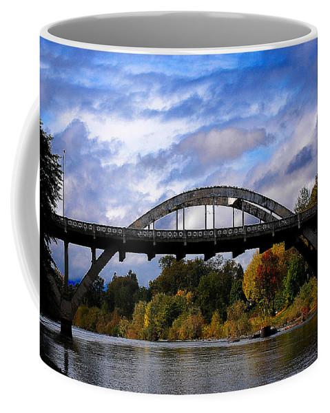 Caveman Coffee Mug featuring the photograph Caveman Bridge by Todd Bartush