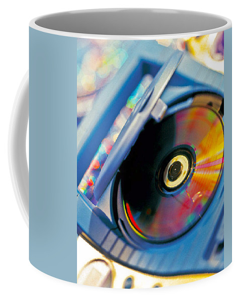 Cd Coffee Mug featuring the photograph Cd Player by Robert Ponzoni