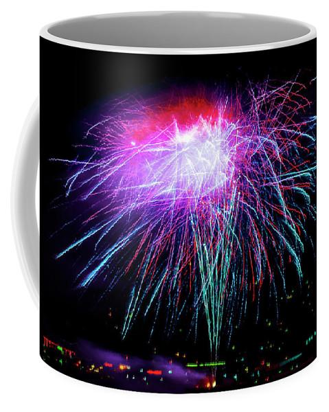 Fireworks Coffee Mug featuring the photograph Celebrate by Brian Tada