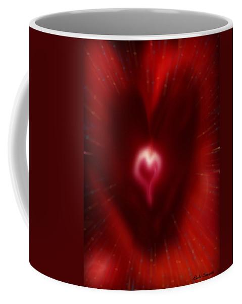 Hearts Coffee Mug featuring the digital art Celebrate Love by Linda Sannuti