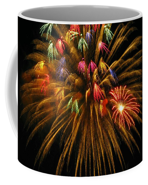 Fireworks Coffee Mug featuring the photograph Celebrate by Rhonda Barrett
