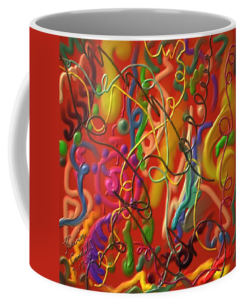 Abstract Coffee Mug featuring the painting Celebrate The Moment by Kevin Caudill
