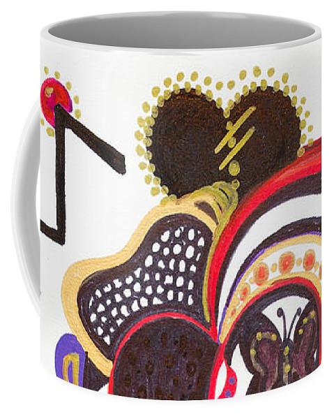 Heart Coffee Mug featuring the painting Celebration - II by Laurel Rosenberg