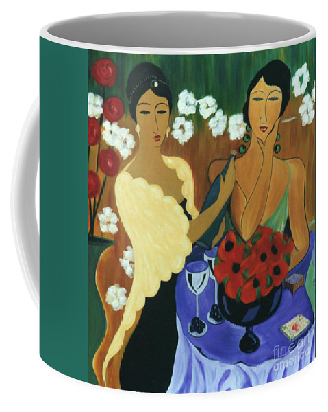 #female Coffee Mug featuring the painting Celebration by Jacquelinemari