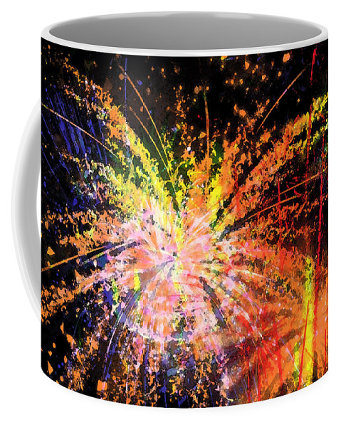 Fireworks Coffee Mug featuring the digital art Celebration by Richard Rizzo