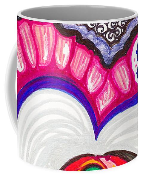 Heart Coffee Mug featuring the painting Celebration - Viii by Laurel Rosenberg