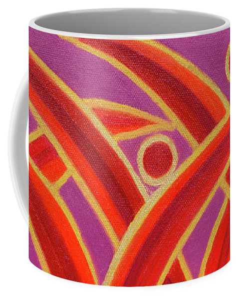 Celestial Fire Coffee Mug featuring the painting Celestial Fire by Adamantini Feng shui