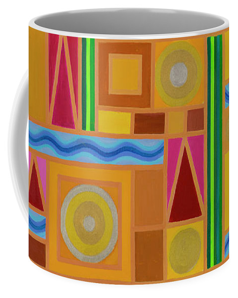 Celestial Coffee Mug featuring the painting Celestial Five Elements by Adamantini Feng shui