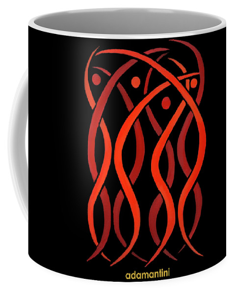 Celestial Flames Coffee Mug featuring the painting Celestial Flames by Adamantini Feng shui
