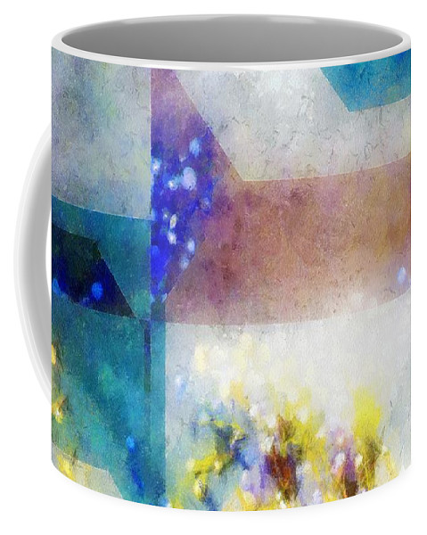 Abstract Coffee Mug featuring the painting Celestial Navigation by RC DeWinter