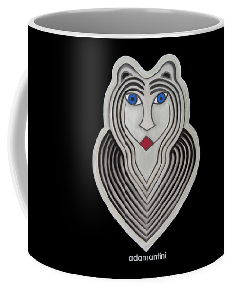 Tiger Coffee Mug featuring the painting Celestial Woman by Adamantini Feng shui