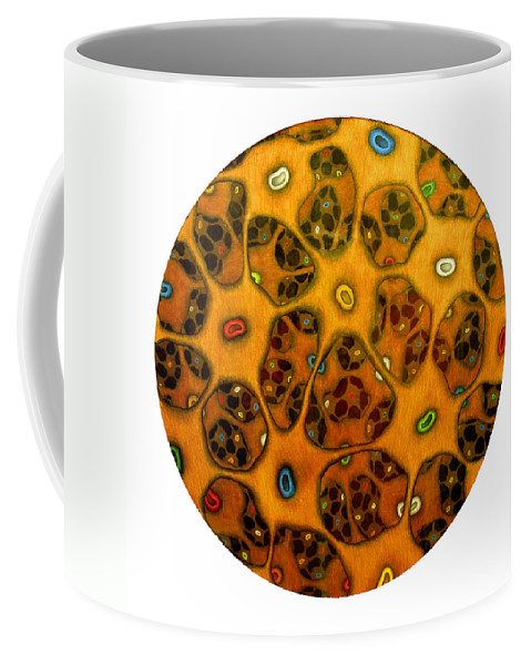 Cells Coffee Mug featuring the drawing Cell Network by Nancy Mueller