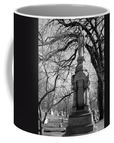 Cemetery Coffee Mug featuring the photograph Cemetery 1 by Anita Burgermeister