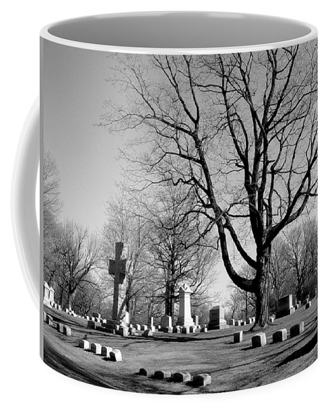 Cemetery Coffee Mug featuring the photograph Cemetery 5 by Anita Burgermeister