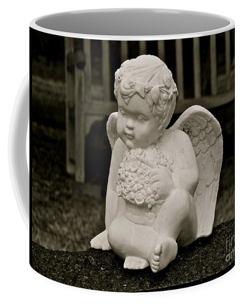 Cemetery Coffee Mug featuring the photograph Cemetery Angel by E Robert Dee