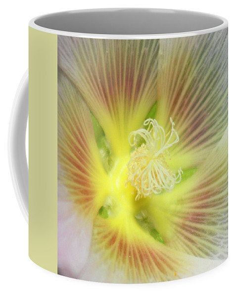 Yellow Flower Coffee Mug featuring the photograph Center Sensation by Matthew Wilson