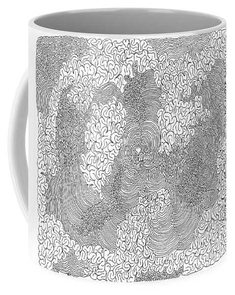 Mazes Coffee Mug featuring the drawing Centered by Steven Natanson