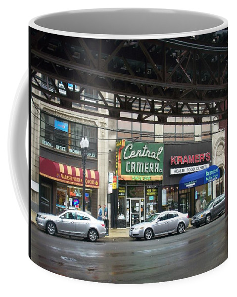 Chicago Coffee Mug featuring the photograph Central Camera On Wabash Ave by Anita Burgermeister