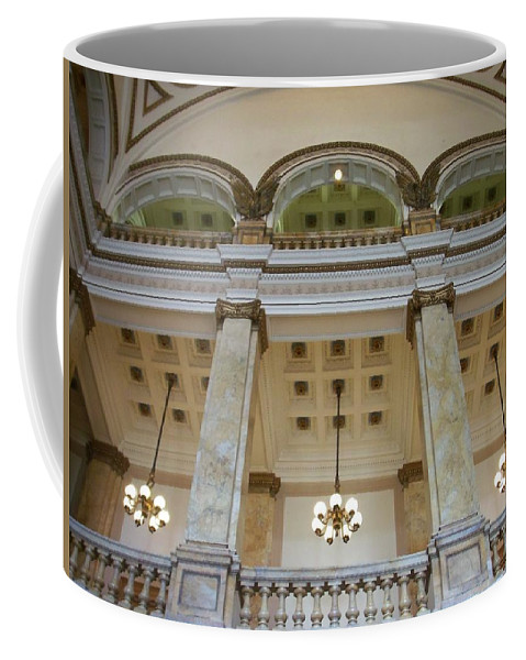 Central Library Coffee Mug featuring the photograph Central Library Milwaukee Interior by Anita Burgermeister