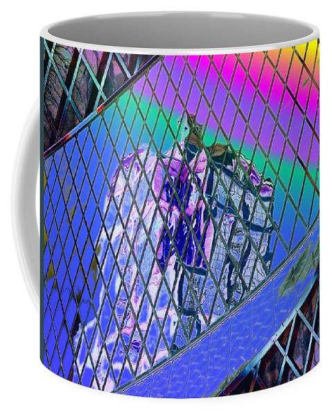 Seattle Coffee Mug featuring the digital art Central Library Seattle 3 by Tim Allen