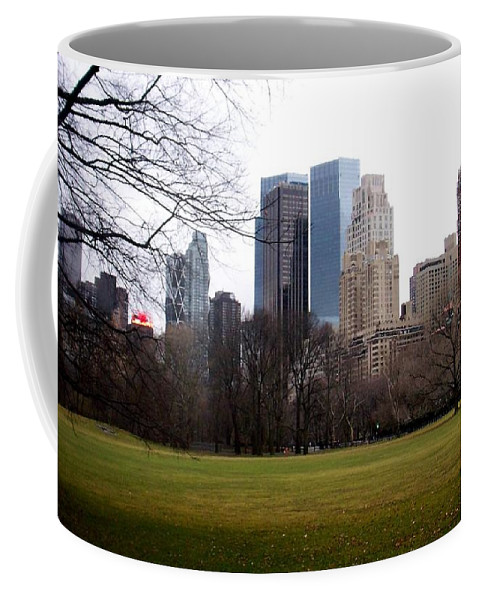 Central Park Coffee Mug featuring the photograph Central Park by Anita Burgermeister