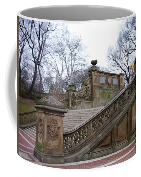 Central Park Coffee Mug featuring the photograph Central Park Bethesda 1 by Anita Burgermeister