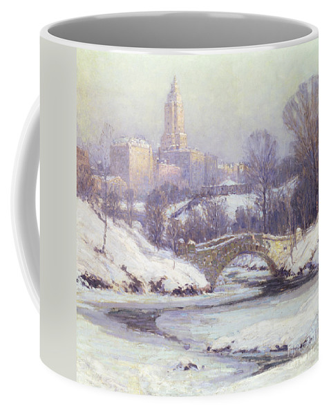 Winter Coffee Mug featuring the painting Central Park by Colin Campbell Cooper