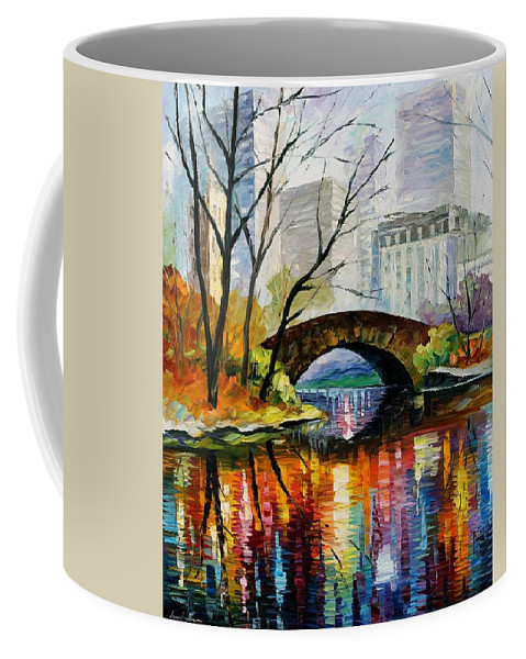 Landscape Coffee Mug featuring the painting Central Park by Leonid Afremov