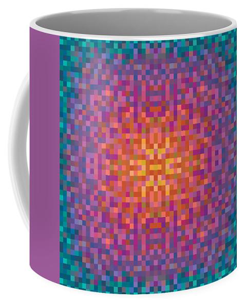 Pixel Coffee Mug featuring the digital art Centric by Thomas Olsen