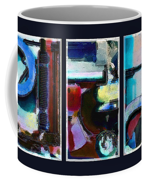 Abstract Coffee Mug featuring the digital art Centrifuge by Steve Karol
