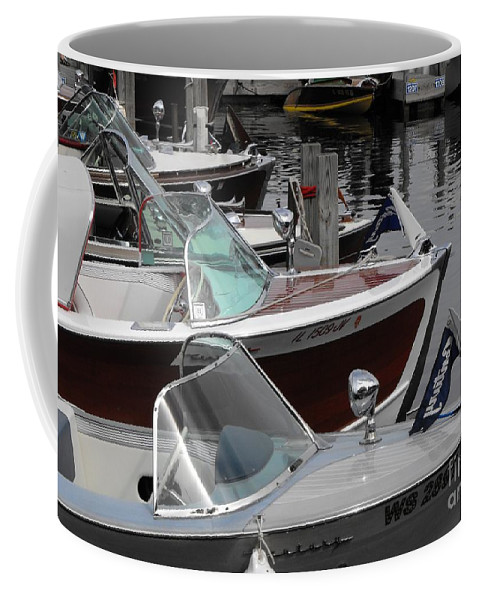 Motorboat Coffee Mug featuring the photograph Century Boats by Neil Zimmerman
