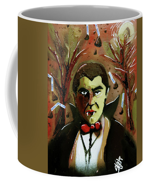Count Chocula Coffee Mug featuring the painting Cereal Killers - Count Chocula by eVol i