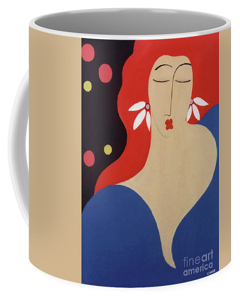 #female Coffee Mug featuring the painting Cha Cha by Jacquelinemari
