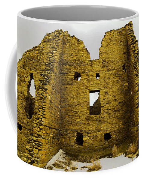 Chaco Canyon Coffee Mug featuring the photograph Chaco Canyon Ruins by Jeff Swan