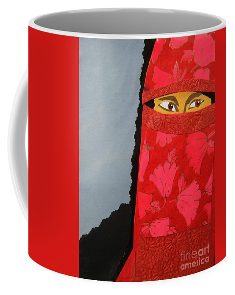 Woman Coffee Mug featuring the mixed media Chador by Debra Bretton Robinson