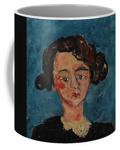 Girl Coffee Mug featuring the painting Chaim Soutine 1893 - 1943 Portrait De Jeune Fille Paulette Jourdain by Chaim Soutine