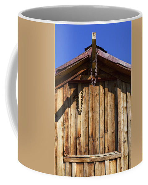 Wooden Structure Coffee Mug featuring the photograph Chain Up by Kelley King