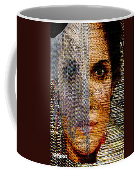 Mysterious Coffee Mug featuring the digital art Chained Vixen by Seth Weaver