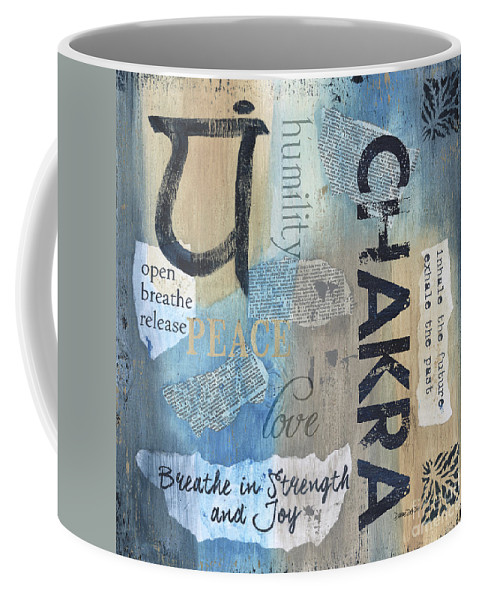 Chakra Coffee Mug featuring the painting Chakra by Debbie DeWitt