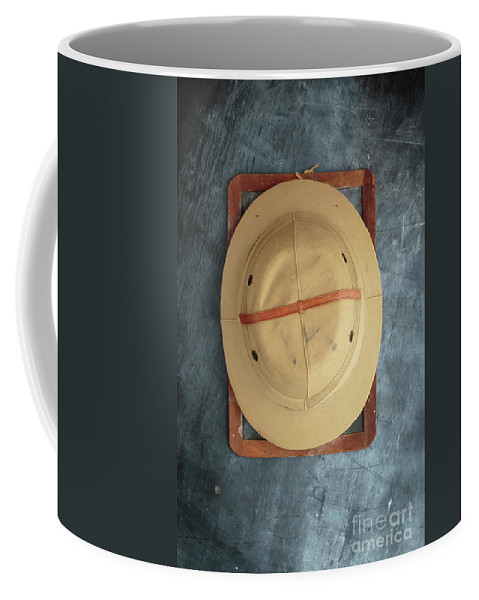 Slate Coffee Mug featuring the photograph Chalkboard Pith Helmet by Edward Fielding