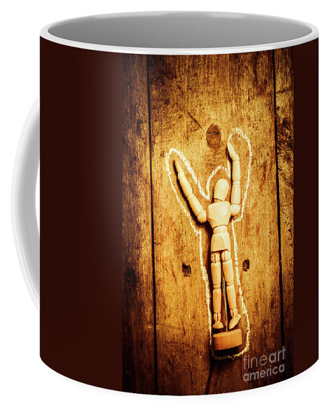 Crime Coffee Mug featuring the photograph Chalked Out John Doe by Jorgo Photography - Wall Art Gallery