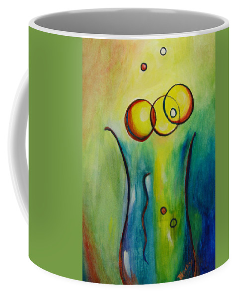 Abstract Coffee Mug featuring the painting Champagne by Donna Blackhall